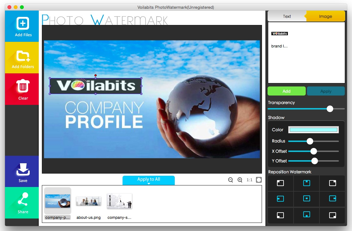 Screenshot 1 for Voilabits PhotoWatermark