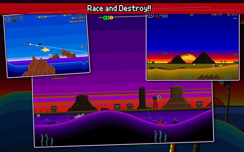 Screenshot 2 for Pixel Boat Rush