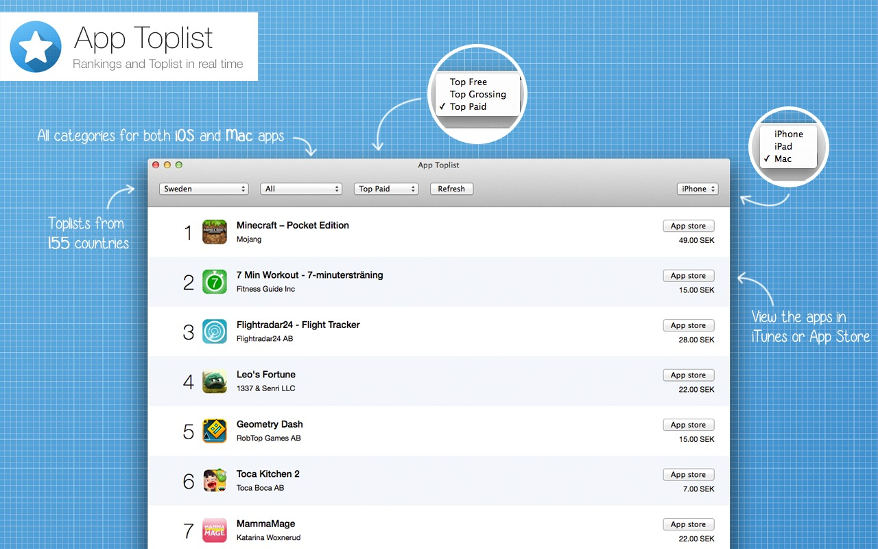 Screenshot 1 for App Toplist