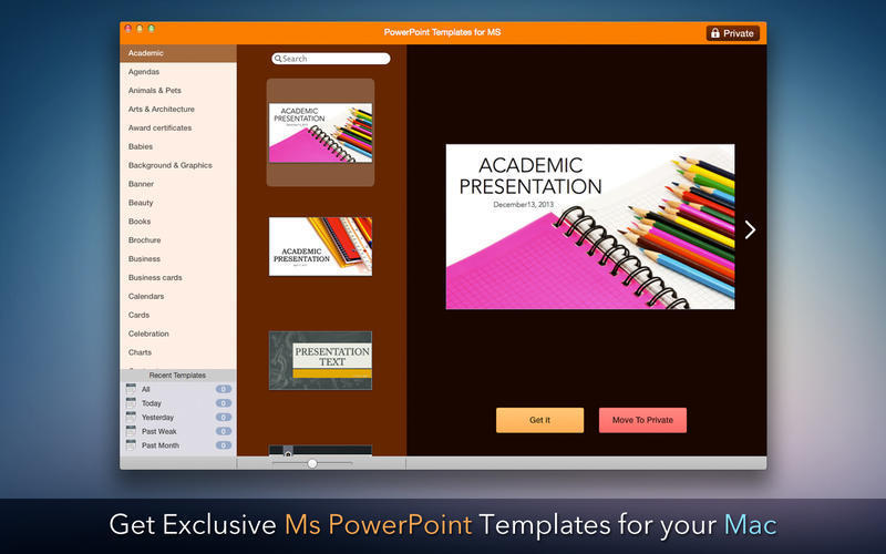 Screenshot 1 for Templates for Microsoft PowerPoint