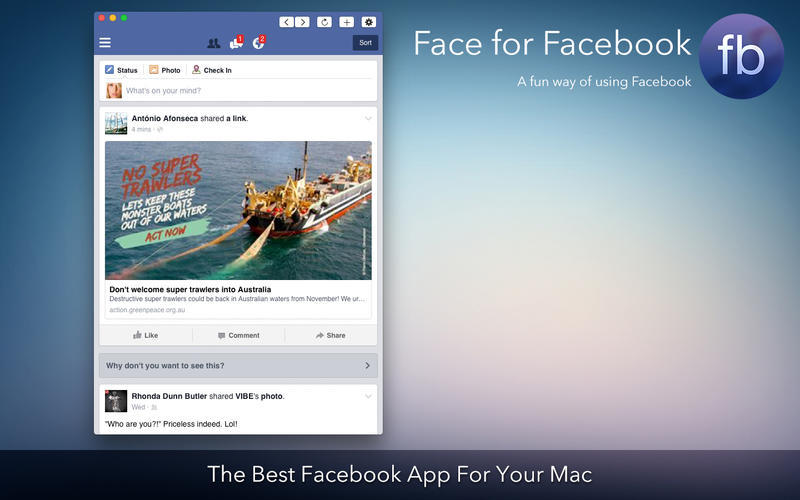 Screenshot 1 for Face for Facebook