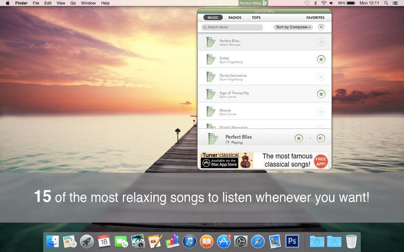 Screenshot 1 for myTuner Relax Pro