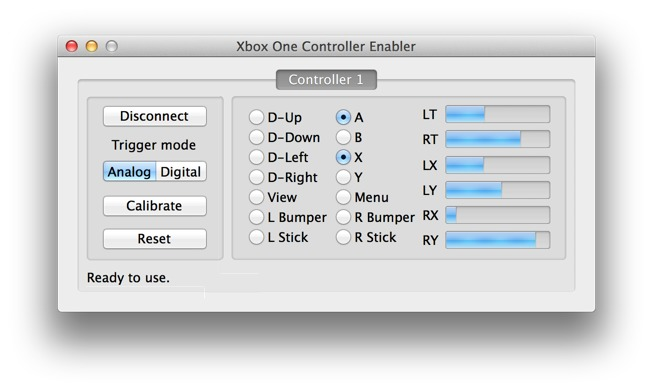 how to use xbox one controller on mac