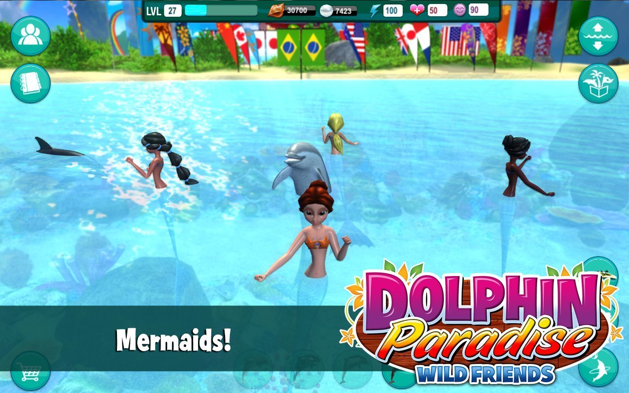 Screenshot 2 for Dolphin Paradise: Wild Friends