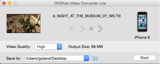 Screenshot 1 for DVDFab Video Converter Lite