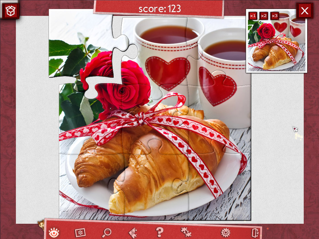 Screenshot 1 for Holiday Jigsaw Valentine's Day