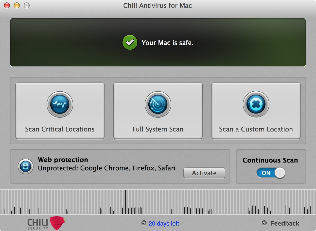 Screenshot 1 for Chili Antivirus