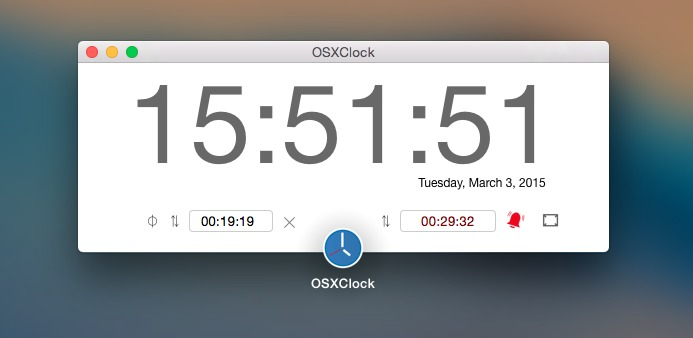 Screenshot 1 for OSXClock