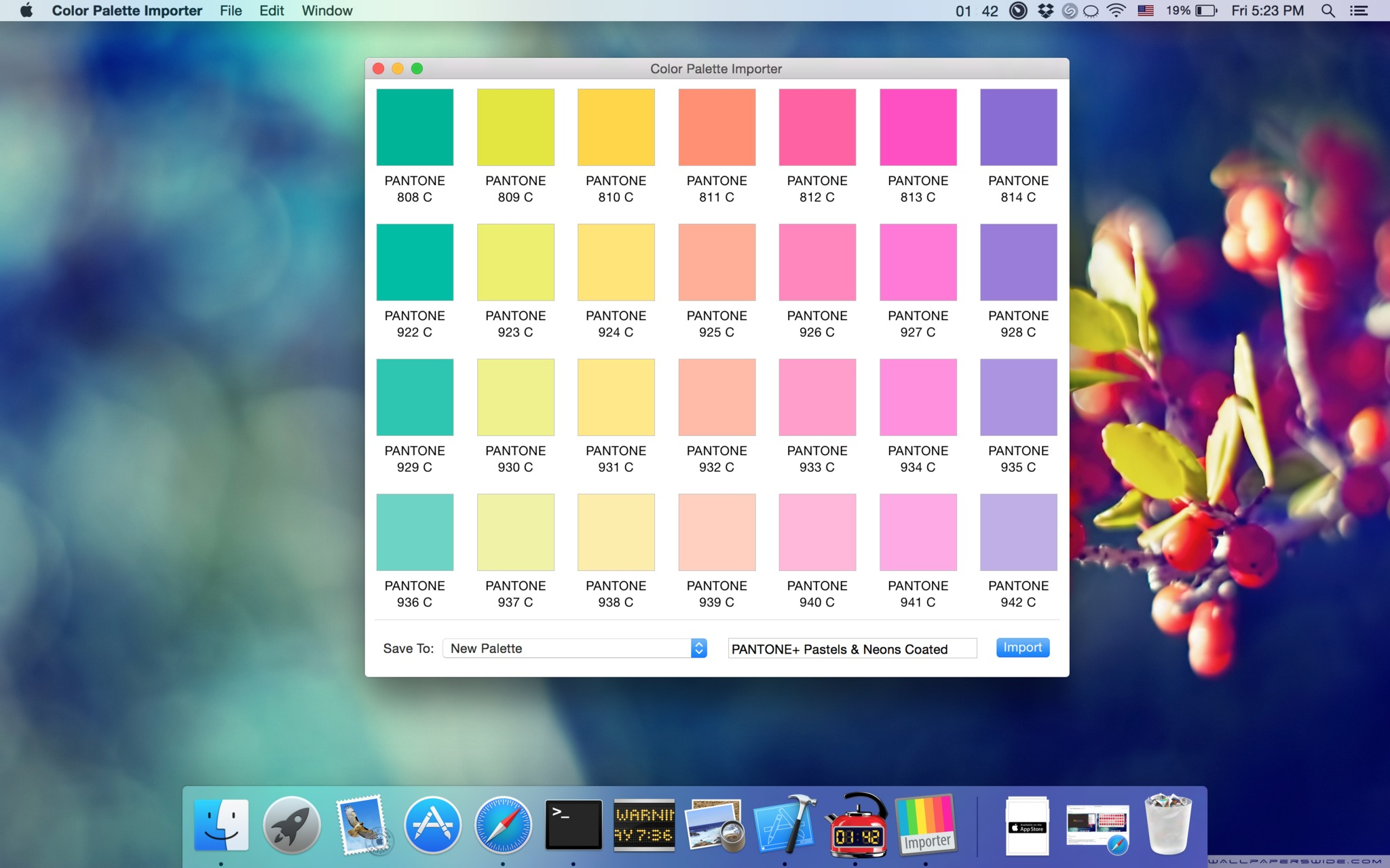 Screenshot 1 for Color Palette Importer