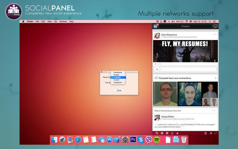 Screenshot 1 for SocialPanel