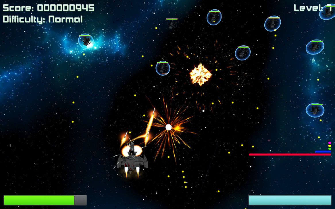 Screenshot 1 for Deep Space Invaders