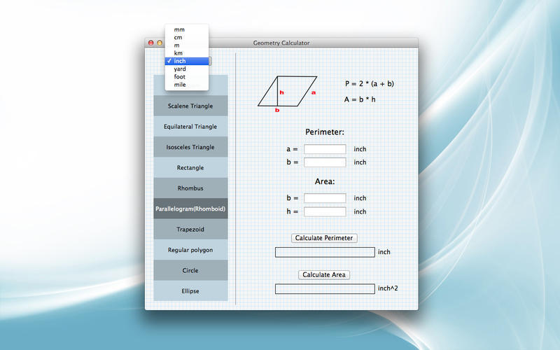Screenshot 1 for Geometry Calculator