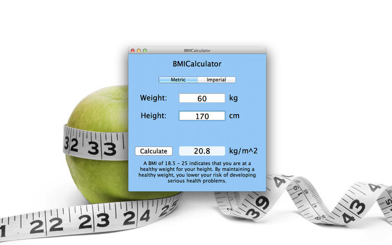 Screenshot 1 for BMI-Calculator
