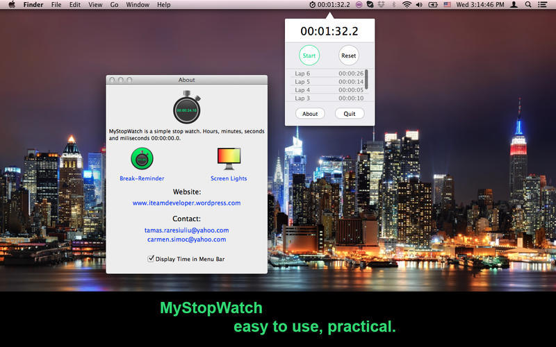 Screenshot 1 for MyStopWatch