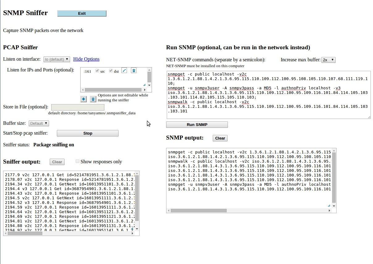 Screenshot 1 for SNMPSniffer
