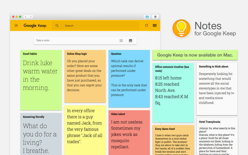 Screenshot 1 for Notes for Google Keep