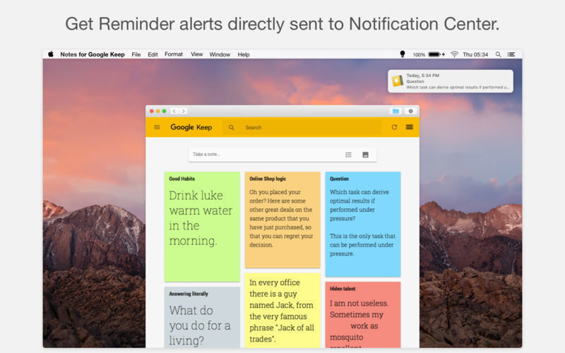 Screenshot 4 for Notes for Google Keep