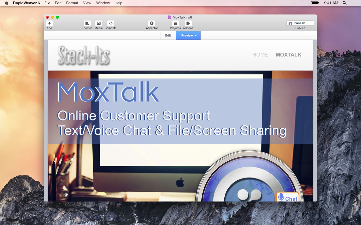 Screenshot 1 for MoxTalk