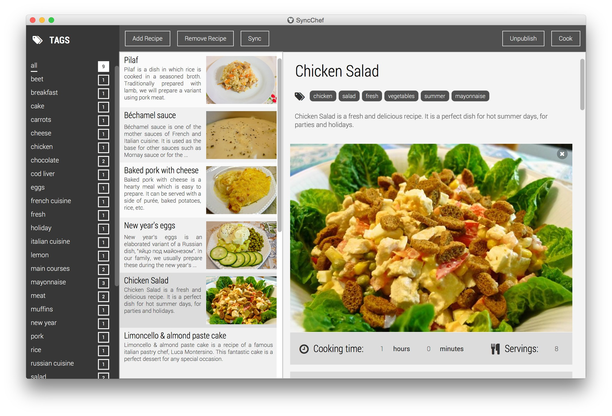 Screenshot 1 for SyncChef