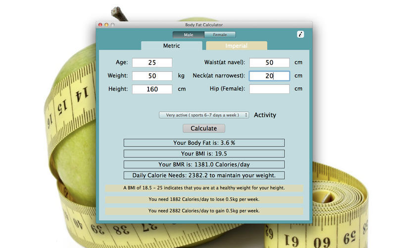 Screenshot 1 for Body Fat Calculator
