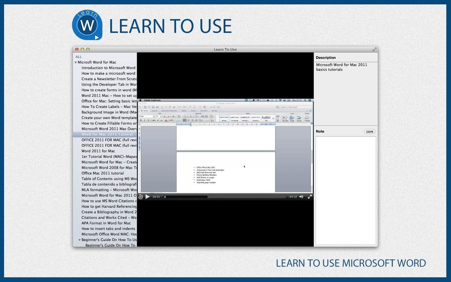 Screenshot 1 for Learn To Use - Microsoft Word