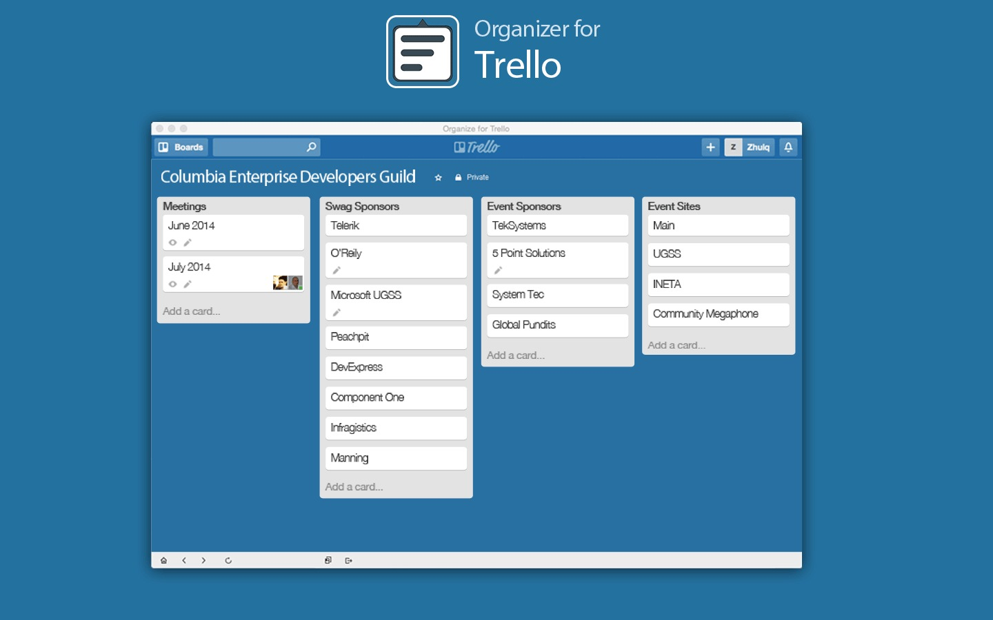 Screenshot 1 for App List for Trello