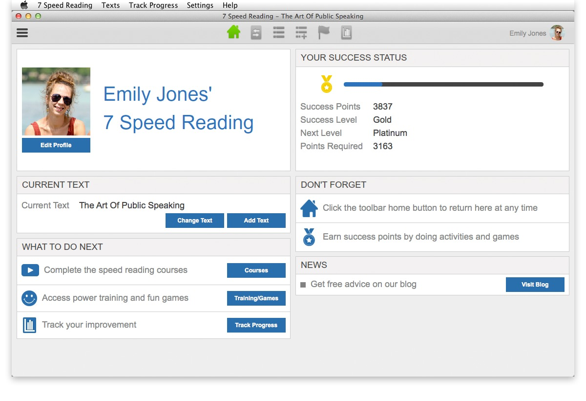 Screenshot 3 for 7 Speed Reading