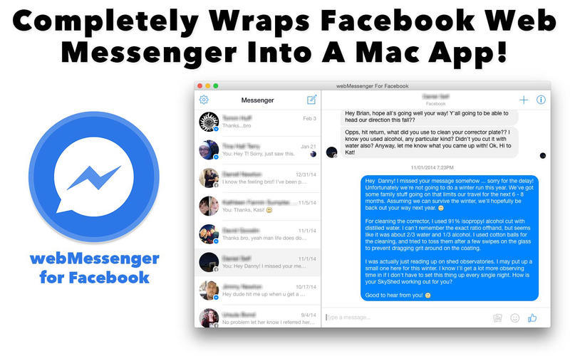 Screenshot 3 for webMessenger For Facebook