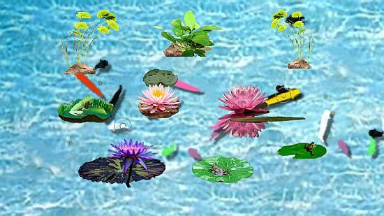 Screenshot 3 for Interactive Fish Pond Game