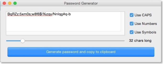 Screenshot 1 for PasswordCreator