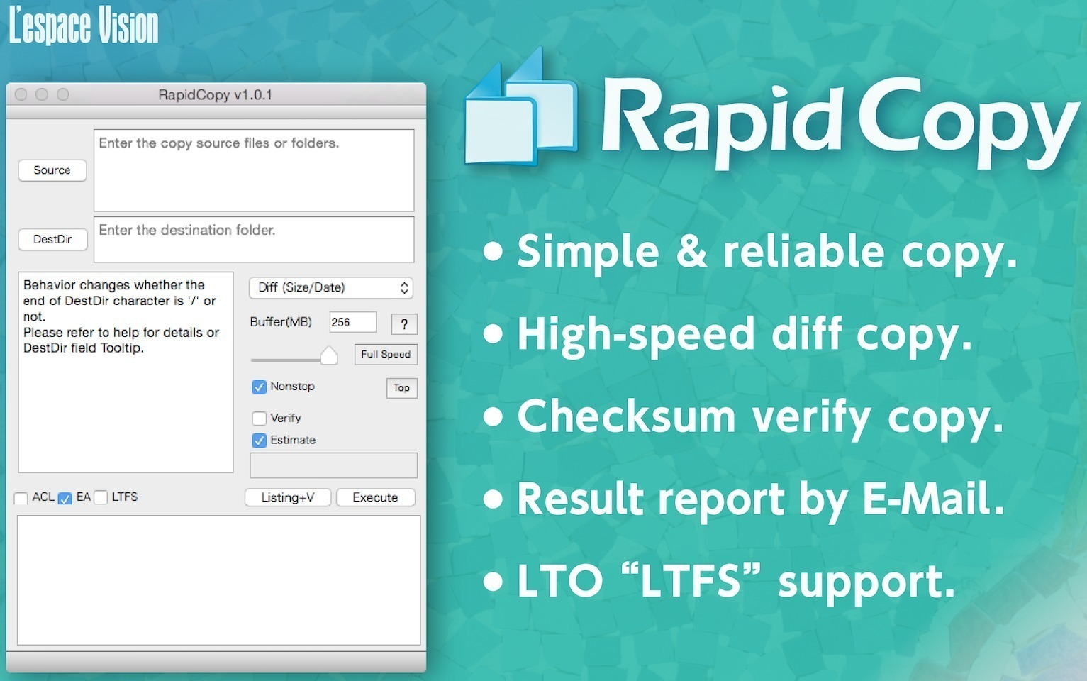 Screenshot 1 for RapidCopy