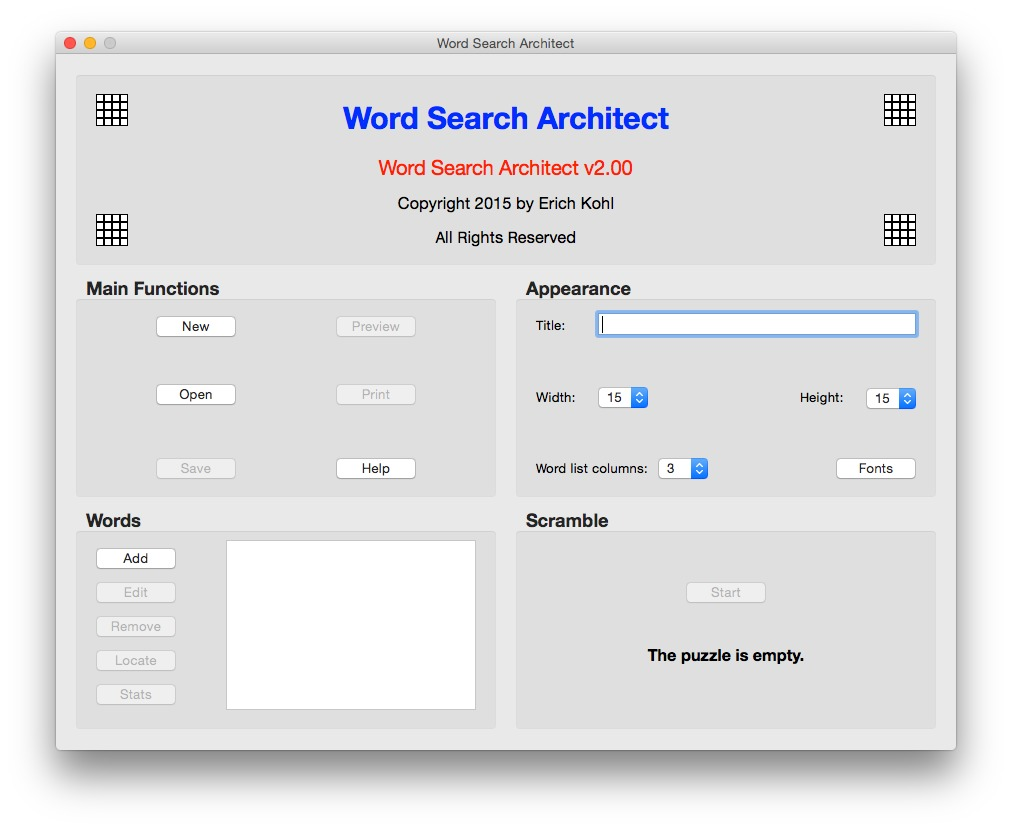 Screenshot 1 for Word Search Architect