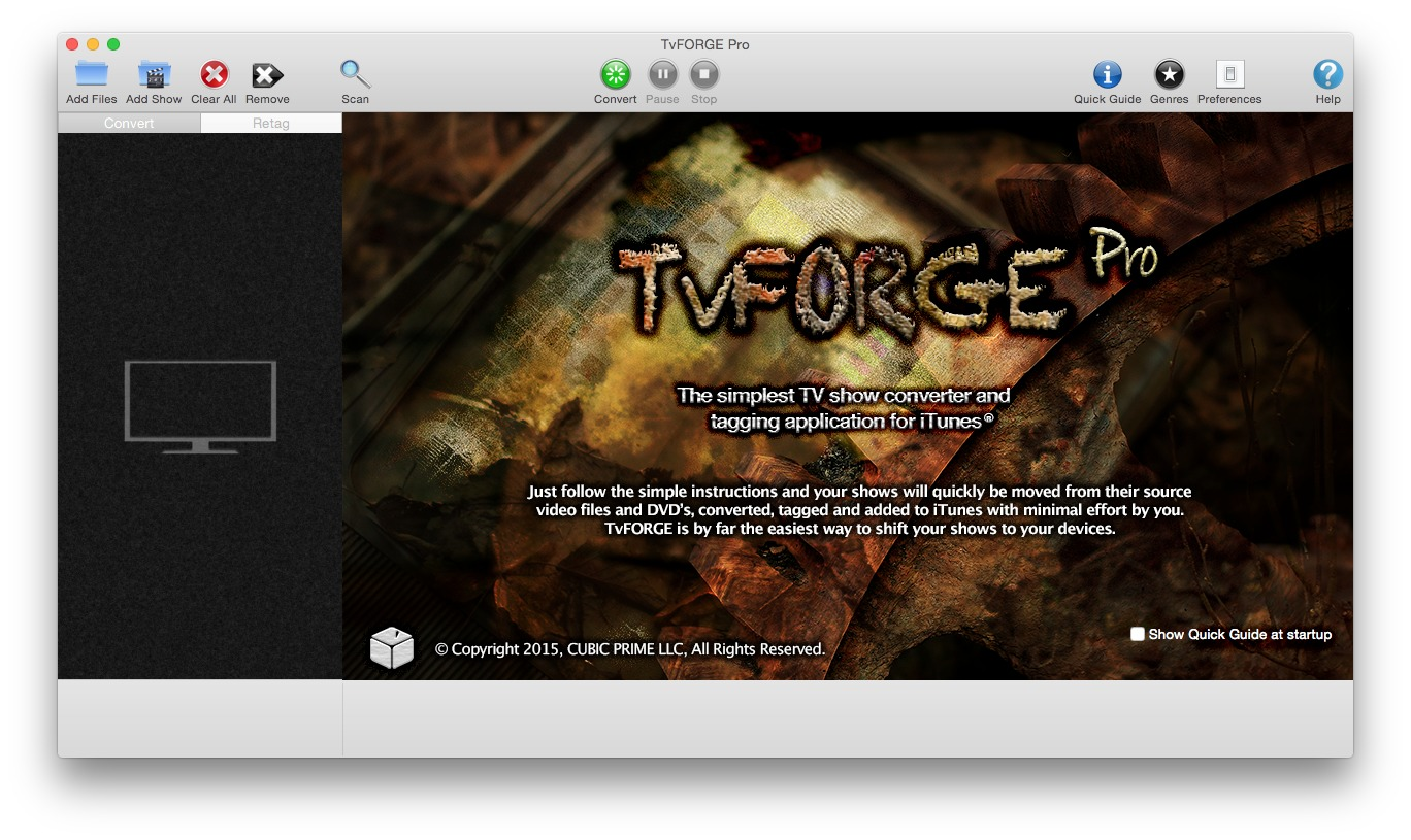 Screenshot 1 for TvFORGE Pro