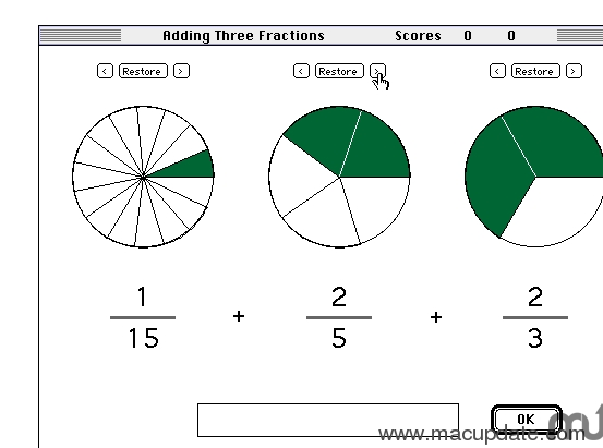 Screenshot 1 for Adding Three Fractions