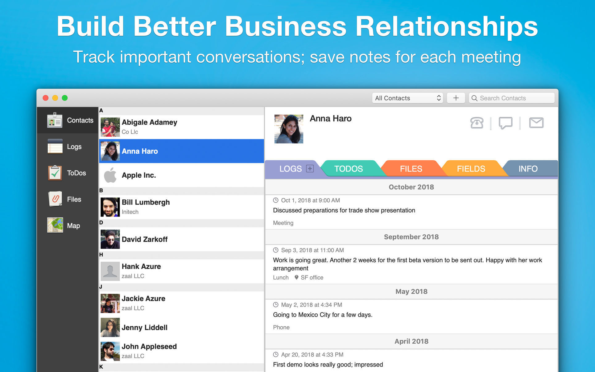 Contacts Journal CRM for Mac | MacUpdate
