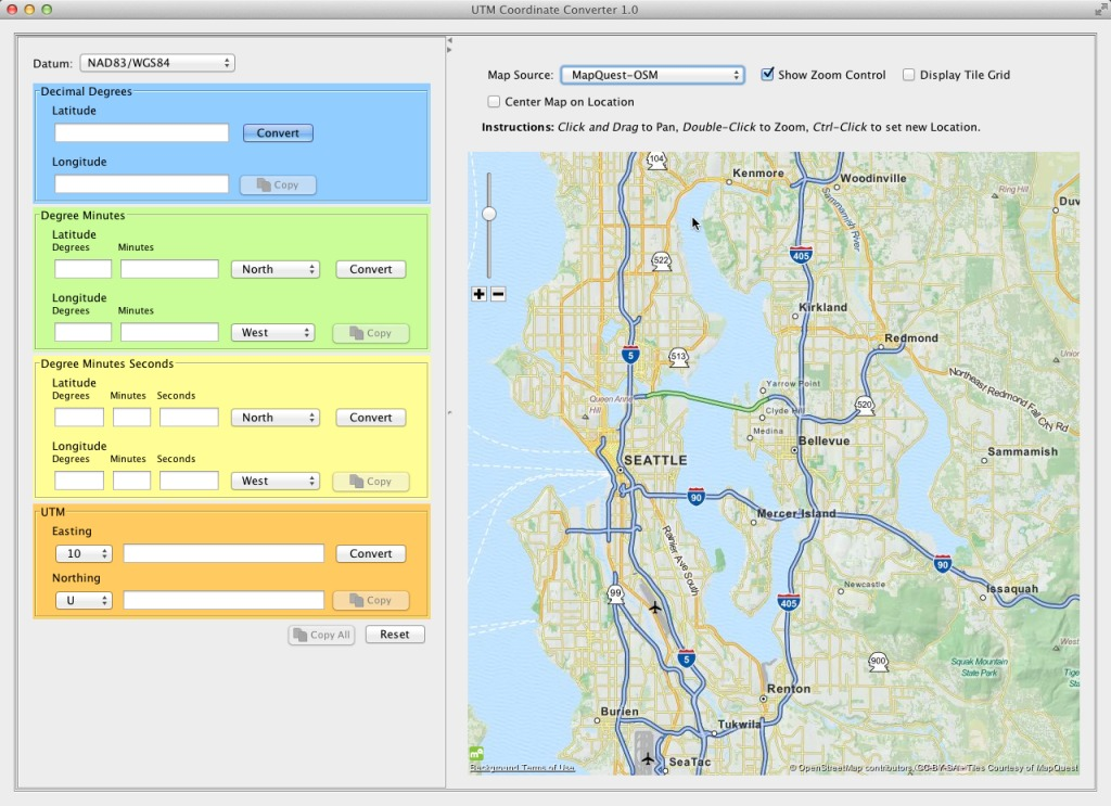 Screenshot 1 for UTM Coordinate Converter