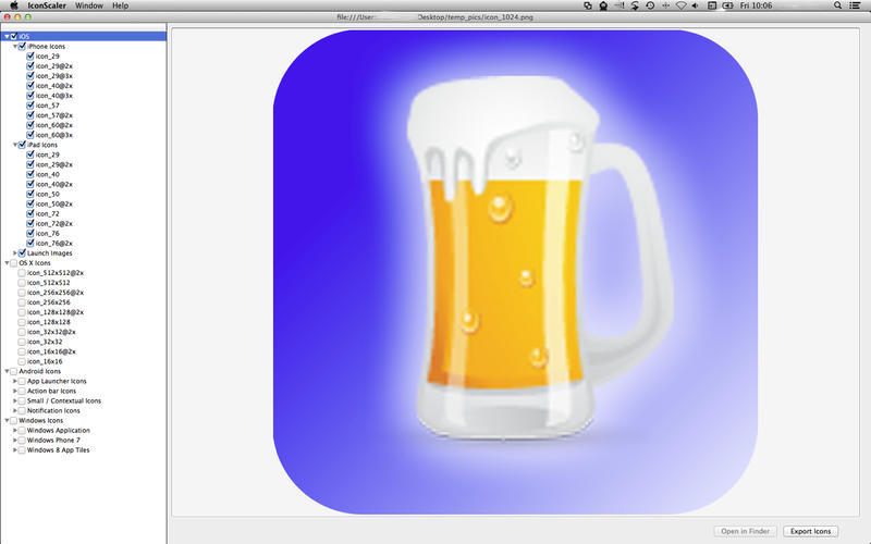 Screenshot 1 for Icon Scaler