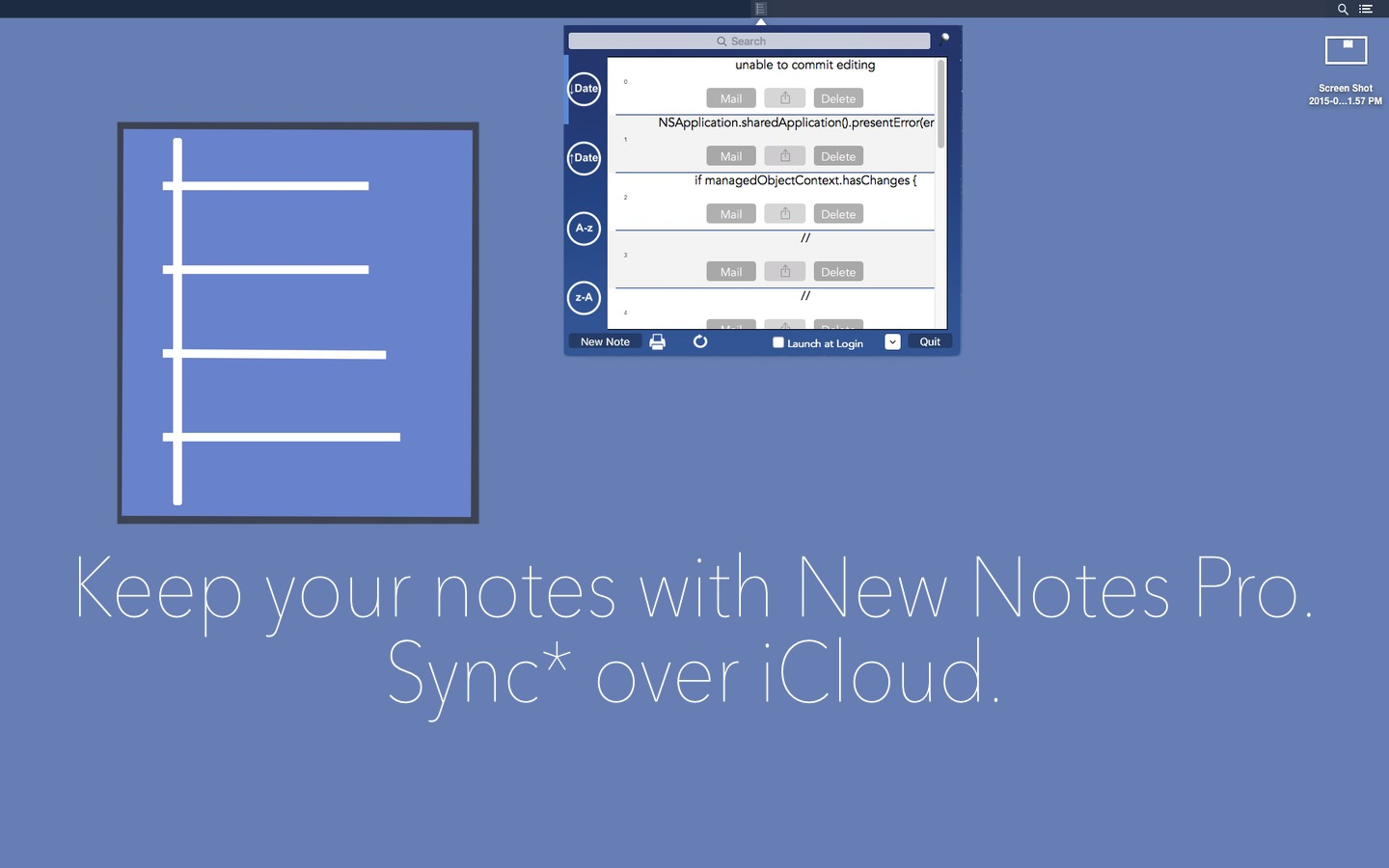 Screenshot 1 for New Notes Pro