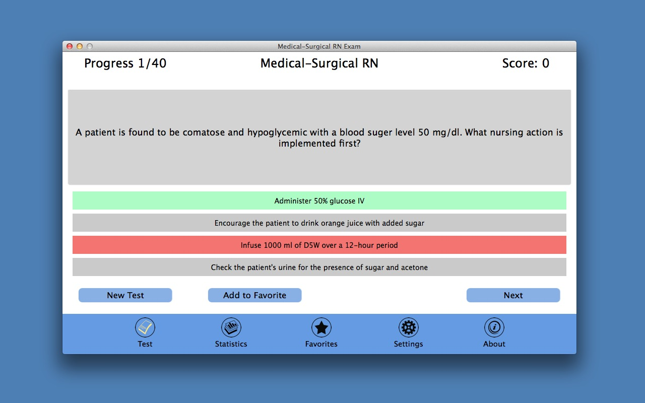 Screenshot 1 for Medical-Surgical RN Exam