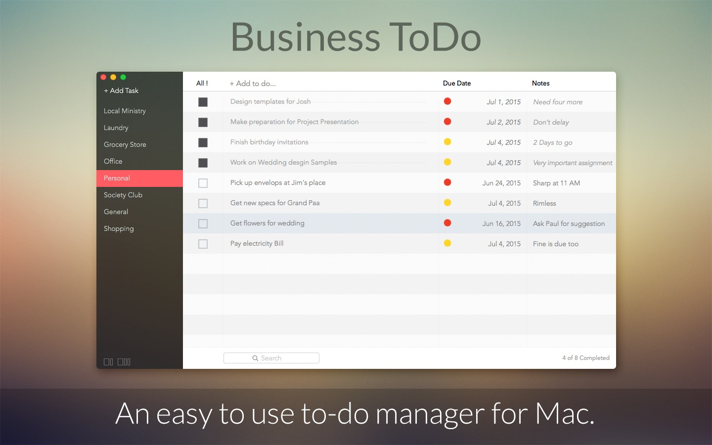 Screenshot 1 for Business ToDo