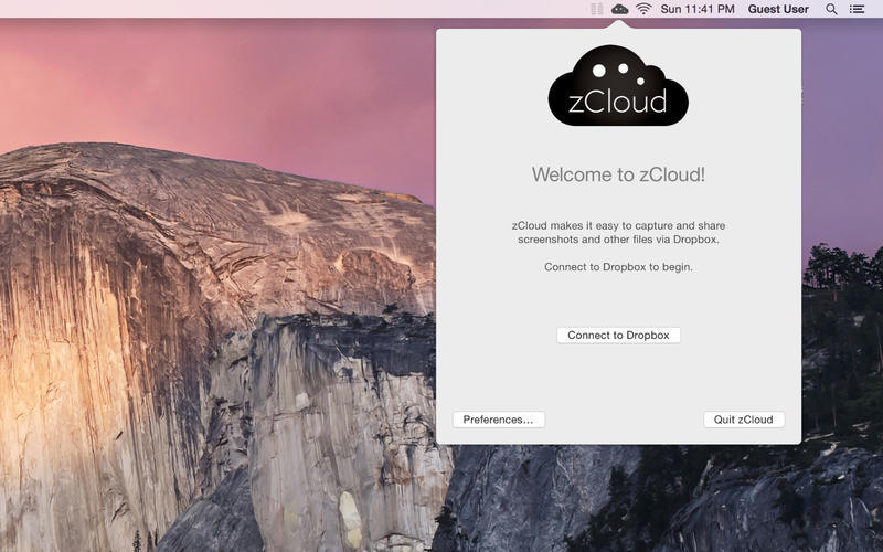 Screenshot 1 for zCloud