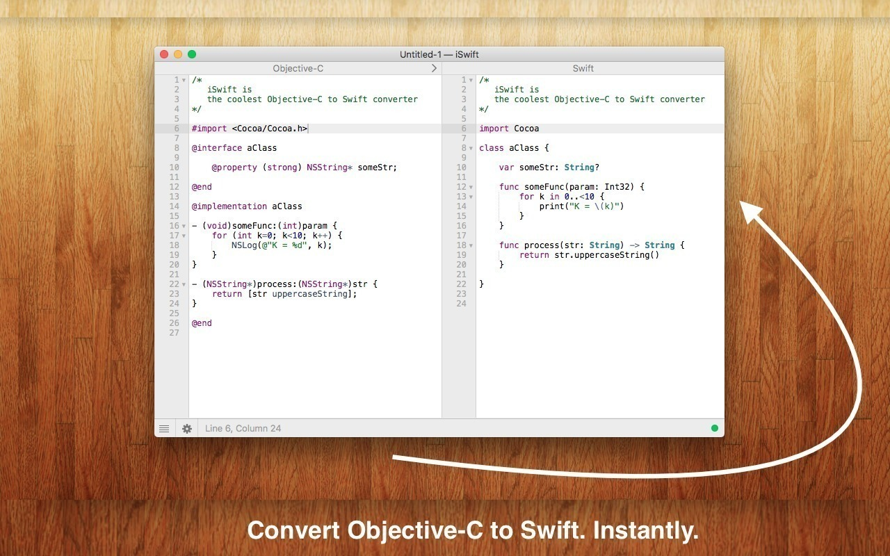 Screenshot 1 for iSwift