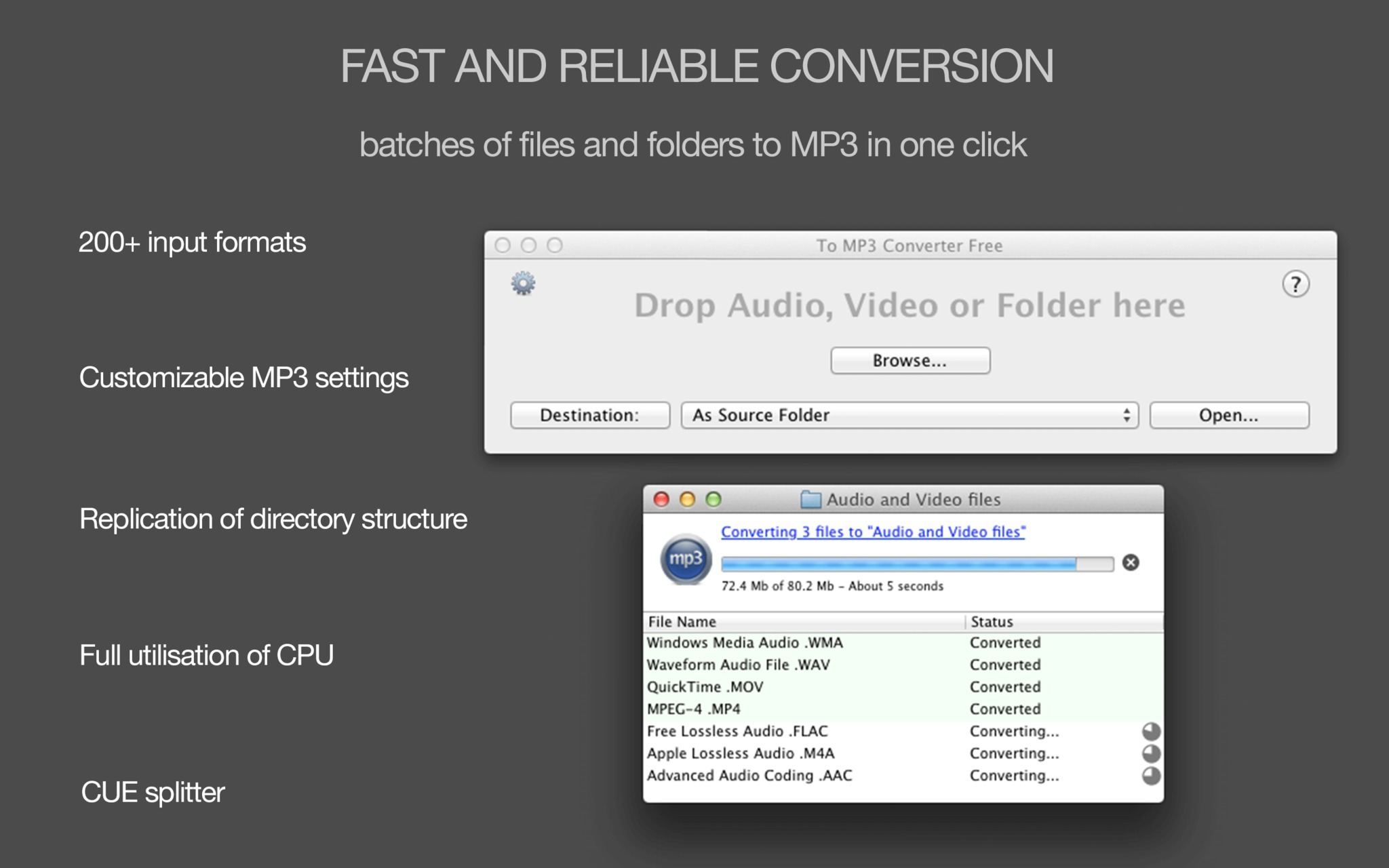 Screenshot 1 for To MP3 Converter Free