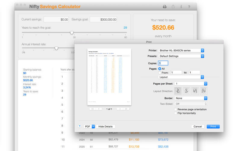 Screenshot 3 for Nifty Savings Calculator