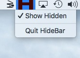 Screenshot 1 for HideBar