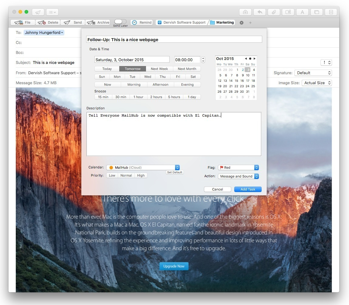 Screenshot 1 for MailHub for Sierra