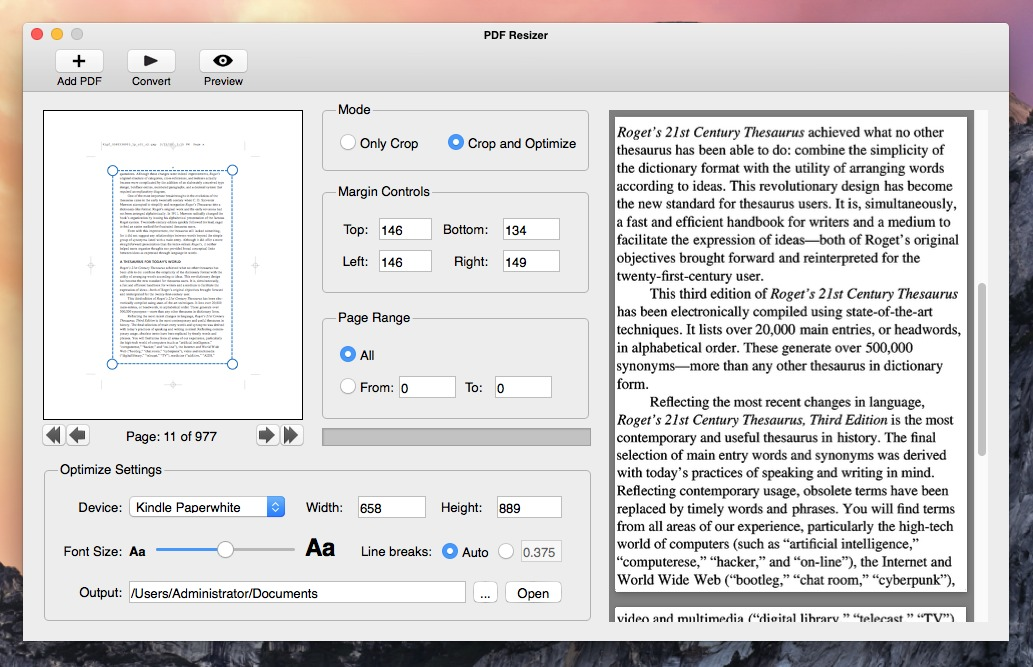 Screenshot 1 for PDF Resizer