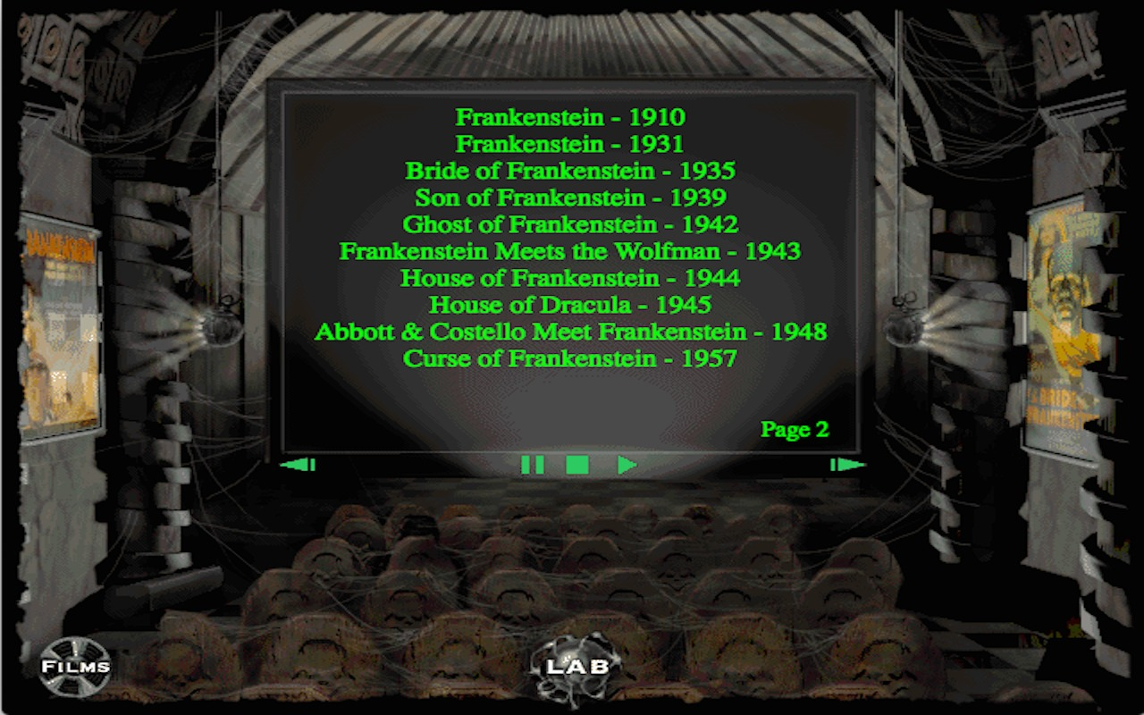 Screenshot 3 for Interactive History of Frankenstein