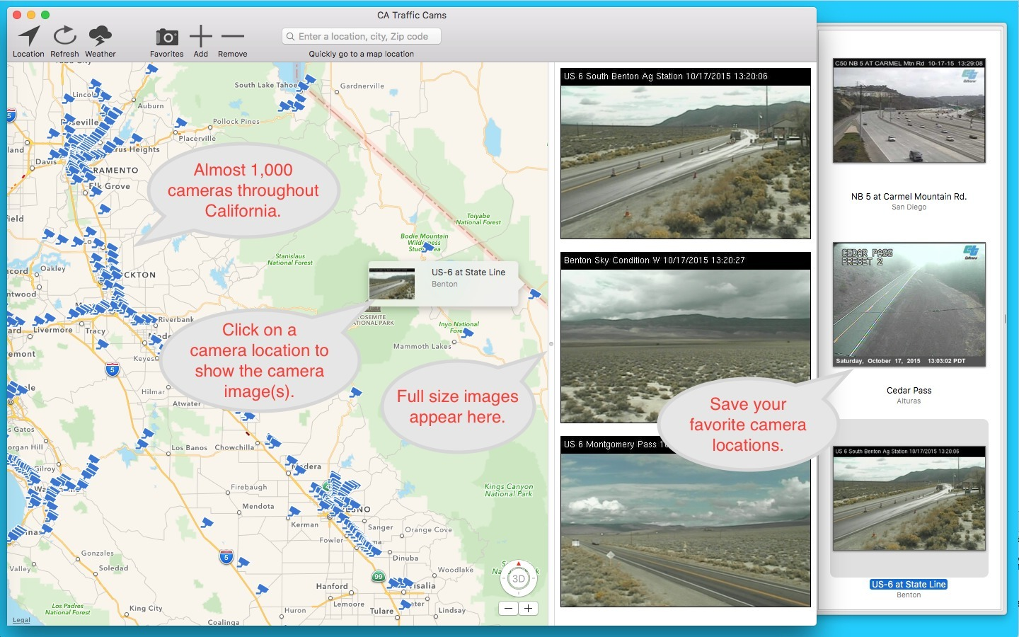 Screenshot 1 for CA Traffic Cams