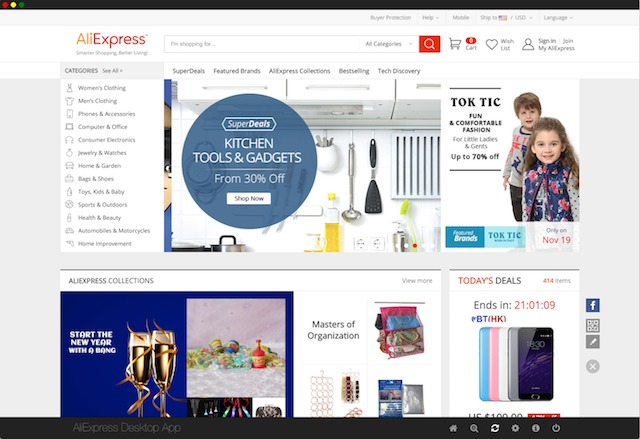 Screenshot 1 for AliExpress Desktop